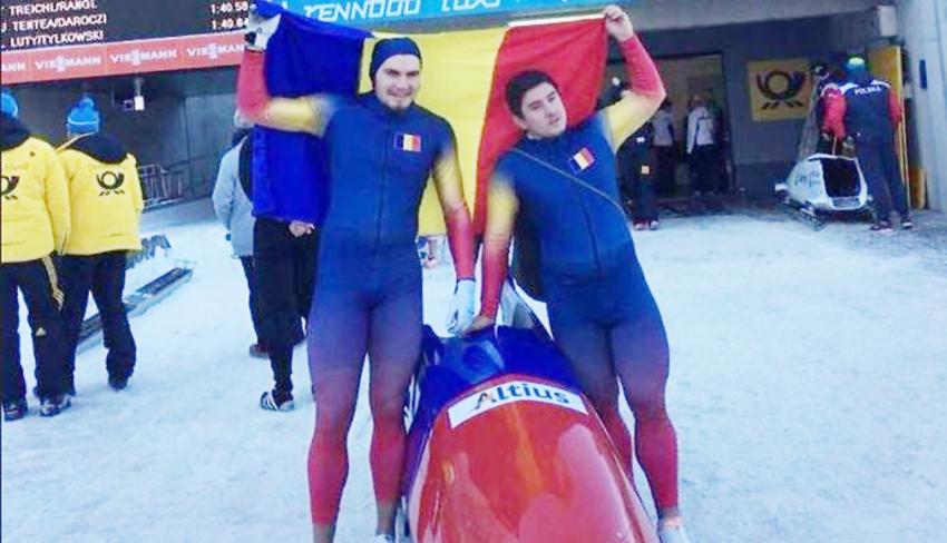 Argeșenii Mihai Tentea şi Ciprian Daroczi, câștigătorii la clasamentul general al Cupei Europei la Bob-2