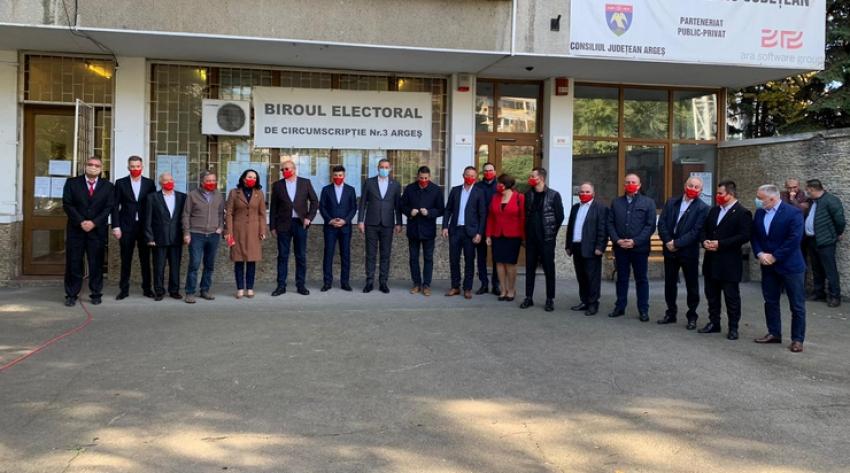 Video! PSD Argeș a depus candidaturile la parlamentare. Liderul de Sindicat de la Dacia, managerul de la Spitalul Colentina și rectorul Universității Pitești pe locuri eligibile