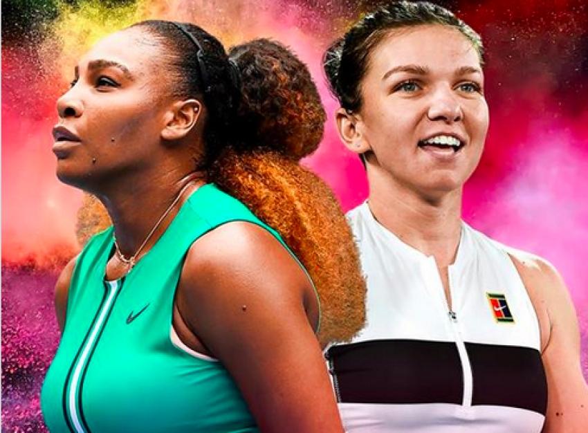 Înfruntarea titanilor: Serena Williams a învins-o pe Simona Halep. Vezi cum s-a jucat mingea decisivă