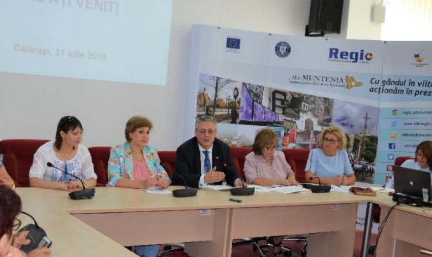 Delegația Comisiilor Regionale Sectoriale din Regiunea Sud a Republicii Moldova, la ADR Sud Muntenia