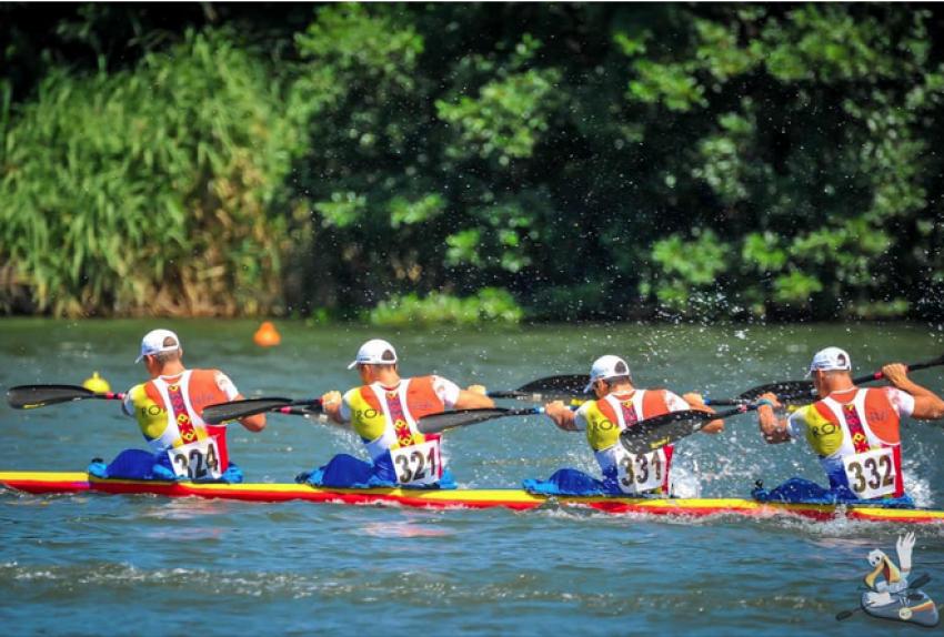 Video! Imagini spectaculoase de la deschiderea Campionatului Mondial de Maraton Kaiac-canoe