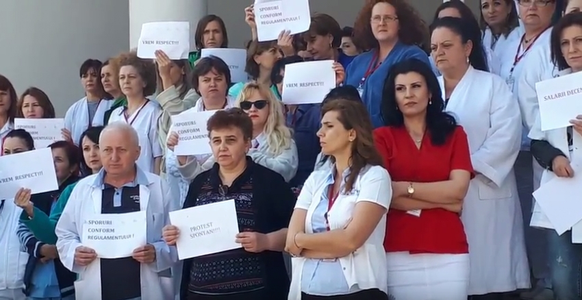Video! Protest spontan la Spitalul de Pediatrie Argeș