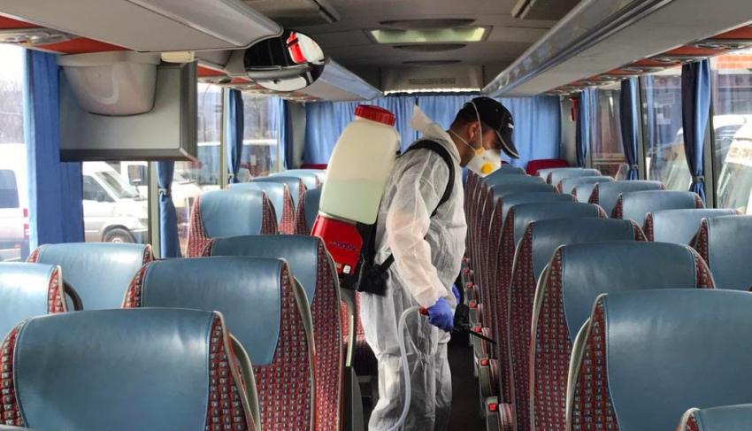 Mijloacele de transport în comun din Mioveni, dezinfectate