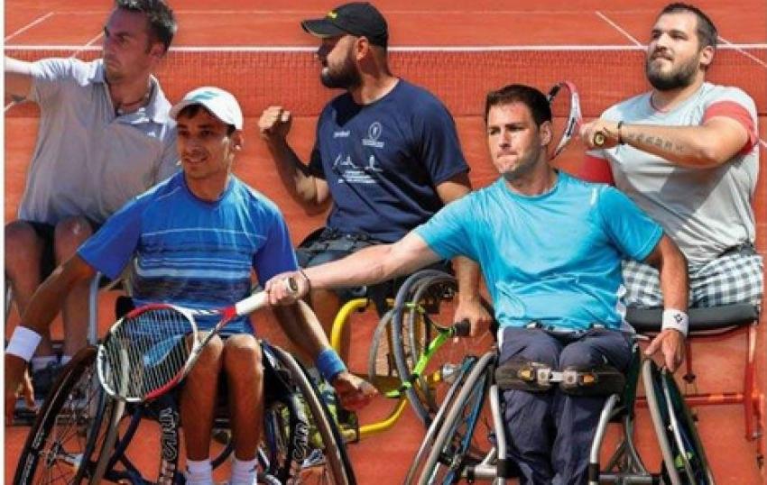 Video! Începe Whell Chair Tenis Open România. Turneu internațional de tenis pentru persoane cu handicap, în Argeș
