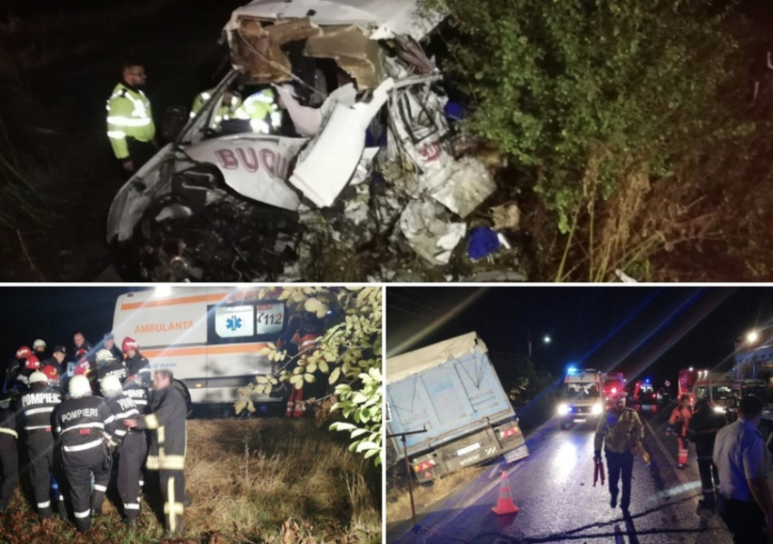 Un sat intreg in doliu. 10 morti si 7 raniti in cel mai grav accident al anului