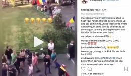 Imaginile publicate de Snoop Dogg de la Protestul Diasporei. Clipul din România devenit viral!