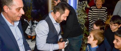 Video! ALDE Pitești l-a adus pe Moș Nicolae la Clubul de Fotbal Nicolae Dobrin