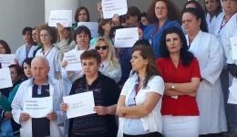 Video! Protest spontan la Spitalul de Pediatrie Argeș