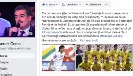 Gerea îl susține pe Ionuț Lupescu la șefia FRF: Dacă vrem performanță ne trebuie...