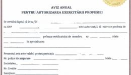 OAMGMAMR FILIALA ARGEȘ A DEMARAT ACTIVITATEA DE ELIBERARE A AVIZULUI ANUAL PENTRU AUTORIZAREA EXERCITĂRII PROFESIEI DE ASISTENT MEDICAL PENTRU ANUL 2021