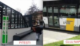 Clujul - 100 de milioane de euro pentru a deveni oraș smart, cu autobuze fără șofer și alte minuni. Piteștiul: 400.000 de euro pentru un WC!
