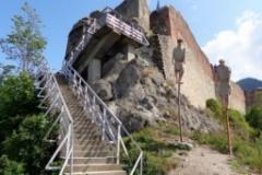 Video! Incendiu la Cetatea Poenari